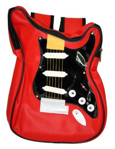 Windworks GB01-03 Gitarrentasche/Rucksack,klein, 33 x 22 cm,rot/schwarz