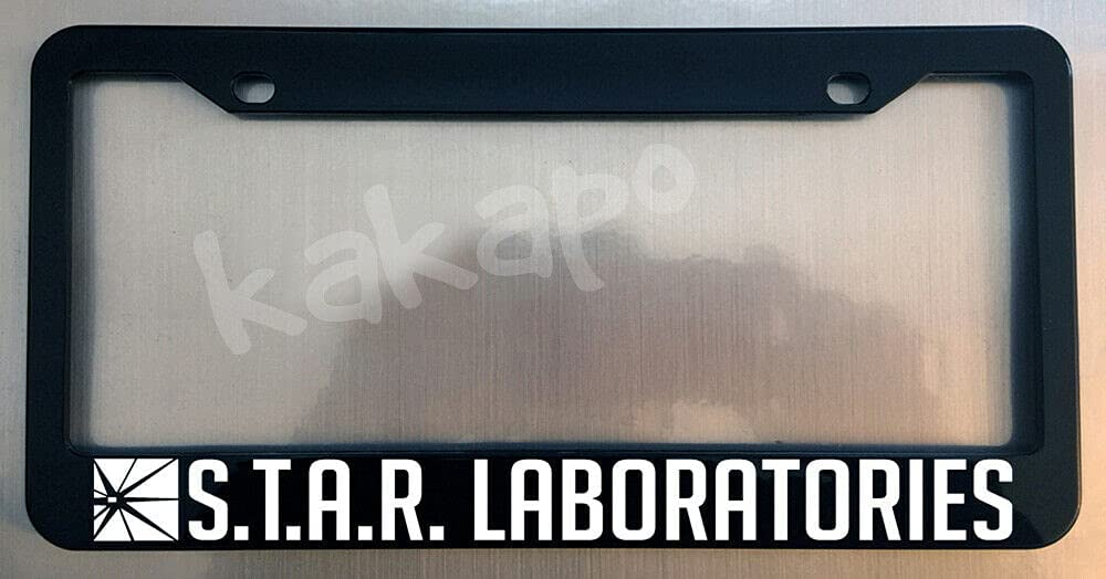 S.T.A.R. Laboratories FLASH Phoenix Mall Glossy 2021new shipping free Black License Frame Plate