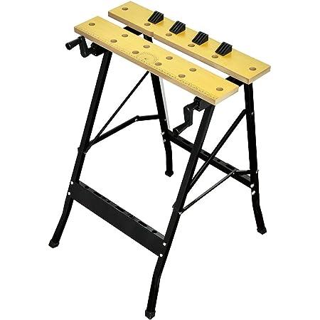 vidaXL Etabli Pliable Banc Travail de Serrage Plan de Table Bricolage Garages
