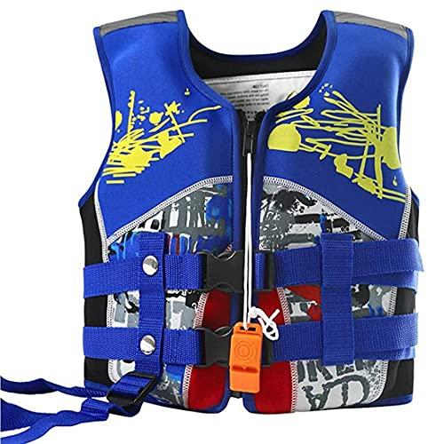Simväst för barn folatjacka barn flytväst flytväst flytväst för körning blå flytkraft badkläder för flickor pojkar simning lärande S storlek