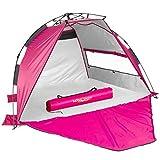 Lucky Bums Easy Up Beach Tent Sun Shade, UV...