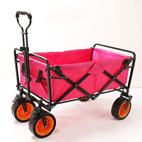 DZX Chariots à Main Chariot de Camping de Camping en Plein air, Chariot de Plage Tout-Terrain, Petite remorque de Camion, Caddie, Portable Pliable, Petit Chariot