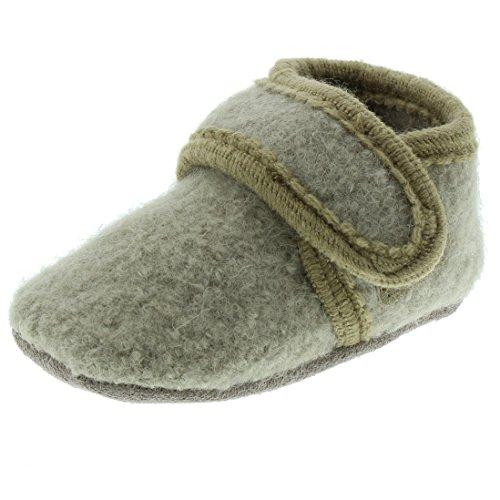 Celavi 3953 Chaussures en laine pour bébé Unisexe Âge 3 ans Taille 25/26 Couleur : Marron clair