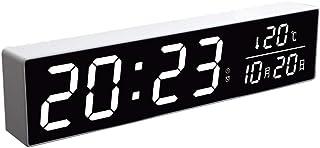 Bracket Clock Night Light Mute Alarm Clock Calendar Electronic Clock LED Screen Digital Bedroom Kitchen Office Bedside Ala...