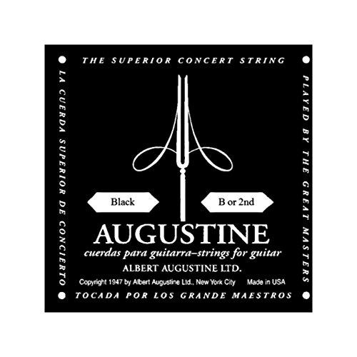 Augustine Cuerdas para Guitarra Clásica, Negro, Si2, Tensión Regular