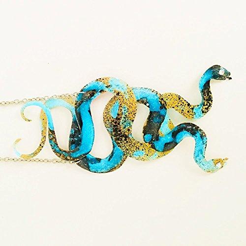 Schlangenkette verwandelt sich in ein Armband - Auryn - Infinite Schlangen - Glühen im Dunkeln - Schlangen Juwel - Schlangenanhänger - Schlangenjuwel - Geschenk