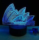 Zhuhuimin Romantique Opéra De Sydney Nuit Lumière USB Touch 7 Lampe Changement De...