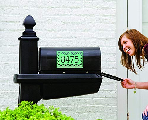Chevron Mailbox Decal - Small Decal - Front Door Personalized Decal - Chevron Personalized Decals - SF - made in the USA