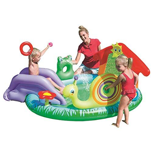 HT&PJ Piscina hinchable para niños, centro de juego hinchable, se puede utilizar en jardines y patios traseros, gran regalo de verano para niños (verde)