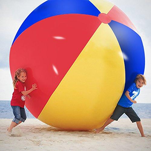 Neuheit Platz Riesen aufblasbarer Wasserball, Pool Spielzeug für Kinder & Erwachsene - Jumbo Größe 5 Fuß (60 Zoll)