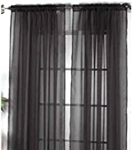 New Solid Color Voile Sheer Curtain Panel Window Curtains 100*200cm Koalcom