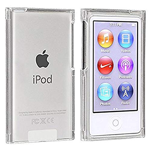 New iPod Nano 7 8 Case, Crystal Clear Transparent Full Hard Cover Case for Apple iPod Nano 7 7th Gen 8 8th Generation (Clear)
