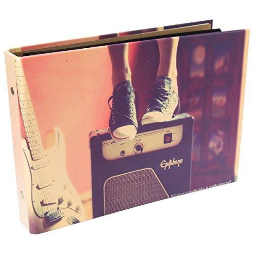 [Fujifilm Instax Mini Foto Album] - CAIUL 50 Seiten DIY Fotohüllen für Mini 70 7S 8 8+ 9 25 50 90/ Pringo 231/ Instax SP-1/ Polaroid PIC-300P/ Polaroid Z2300 Film (Musik)