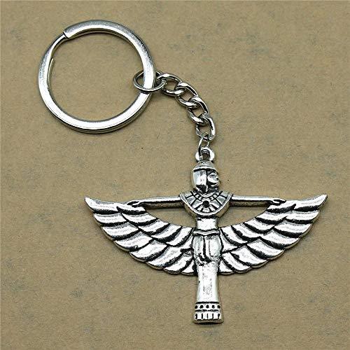 Zbzmm Accessoires Sleutelhanger Accessoires Egypte Bonity terug Dames geschenken voor kinderen verjaardagsfeest hanger 42x56mm antiek zilver
