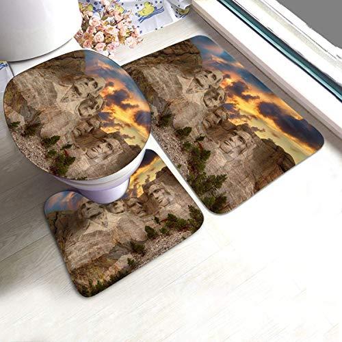 GABRI Mount Rushmore National Memorial Park Alfombrillas de baño de Franela Soft...