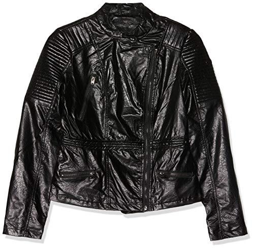 Fritzi aus Preussen Damen Denver - Fitted Biker Jacket Jacke, Schwarz (Black 1), Large