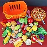 Shhjjyp Alimentos De Juguete Cortar Frutas Verduras Temprano Desarrollo EducacióN Temprano Desarrollo EducacióN Juegos para NiñOs Bebé NiñOs Juegos para Cocinar,35 pcs