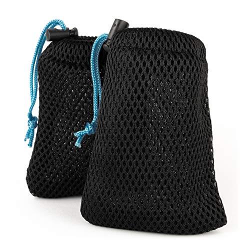 mercabo: Säckchen für Masken - atmungsaktiv & waschbar. Der perfekte Begleiter für deinen Alltag (9x12cm, 2 Stück, schwarz/blau)