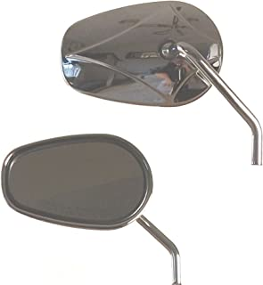 Stock Style Tapered Mirrors for 2003 /& Newer Harley-Davidson models