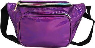 Wultia - Bags for Women 2019 Women Fashion Outdoor Laser Waterproof Leather Messenger Shoulder Bag Chest Bag Bolsa Feminina Purple