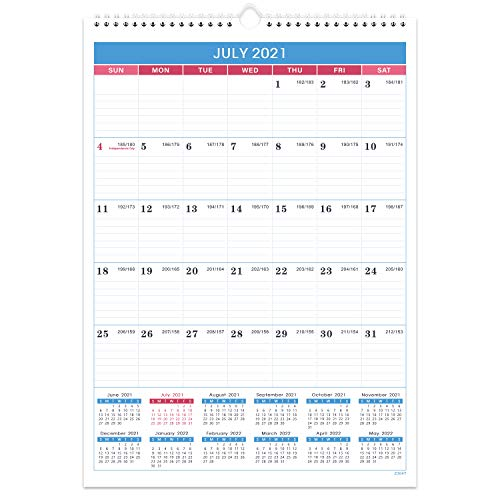 """2021-2022 Calendar - 18 Months Wall Calendar Planner from Jul 2021- Dec 2022, 12""""x17"""", Twin-Wire Binding, Julian Dates, Thick Paper, Perfect for Planning and Organizing"""