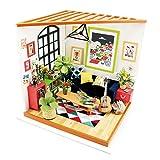 HGYYIO DIY Zusammenbauen Haus Mit Mbel Und Zubehr Mini-Holz-Puppenhaus Miniatur Kunsthandwerk...