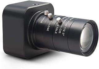 MOKOSE HD Webcam USB 3840 x 2160 Digital Industrial Camera with CS-Mount 5-50mm Telephoto Zoom Manual Lens UVC Free Drive.