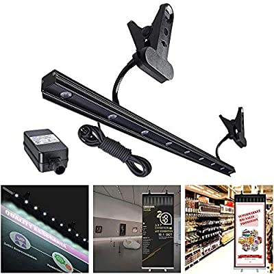 Yescom 9W LED Light for Retractable Roll Up Banner Stand Adjustable IP65 Waterproof Clip On Display Lamp Trade Show