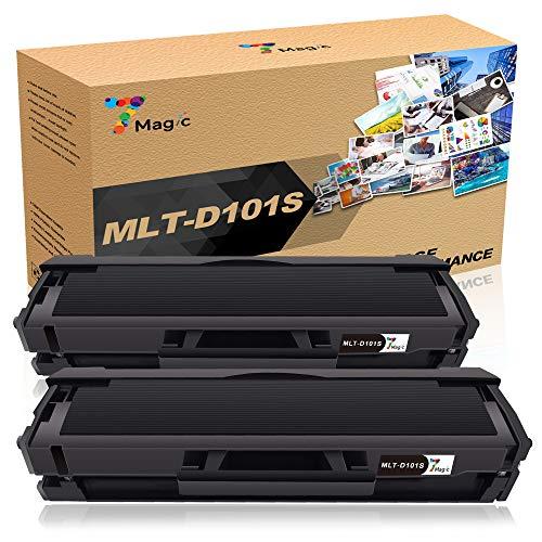 Samsung MLT-D101S Kompatibel Toner schwarz, 7Magic MLT-D101S 101S ELS Kompatibel Toner für Samsung ML-2165W ML-2165 SCX-3405W SCX-3405 SCX-3400 ML-2160 ML-2168W SF-760F