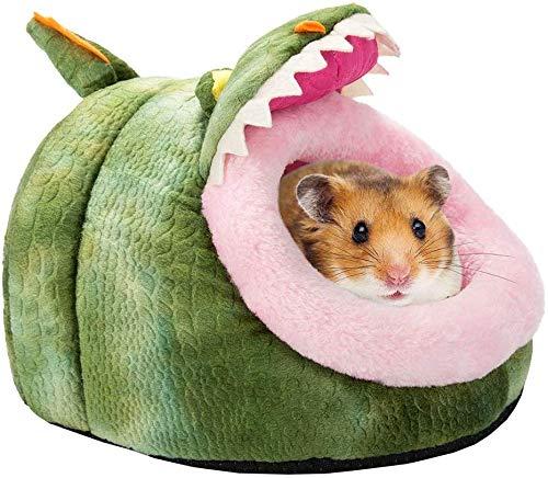 L.TSA warmes kleines Haustier-Tier-Bett, niedliches Meerschweinchen-Hamster-Haus-Bett, niederländisches Schwein-Hamster-Minihaus verwendbar für Herbst und Winter