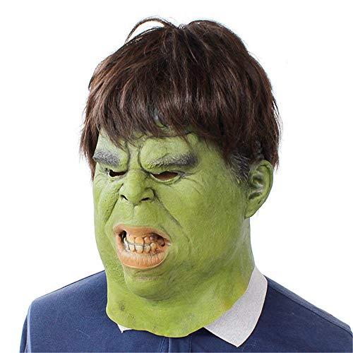 YBBGHH Hulk Head Rubber Masker Volwassene Grappige Hoofddeksels Aankleden rekwisieten Halloween Cosplay Kostuum Show Volledig Gezicht Latex partij Masker