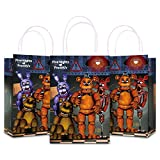 Video Game Theme Party Bag Gift Bag – Party Supplies Favors For Kids Boys Girls – Video Game Kraft Paper Bags Take Goodie Candies, Toys, Small Gift Bags with Handle (12 Pack)