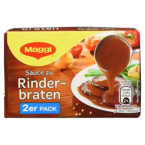 Maggi Delikatess-Saucen Sauce zu Rinderbraten, für 2x0.25L, 58 g