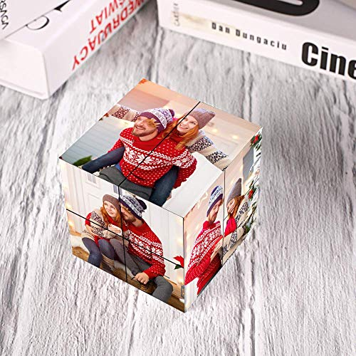 Photo Cubes for Pictures Photo Frame Rubik's Cube Multi Picture Frame Photo Block - Personalized Photo Puzzle Custom Photo Frame Collage Home Office Desk Decor Gifts Multiphoto Rubik's Cube