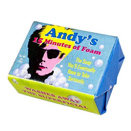 Andy Warhol's 15 Minutes of Foam Bath Soap - 1 Mini Bar of Soap - Made in The USA