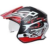 Wulf Vista Trials Helmet S Red