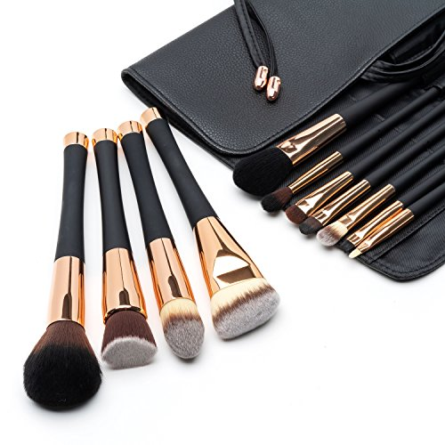 Fancii Professionelle Make Up Pinsel Set, 11 hochwertiges Schminkpinsel Kosmetikpinsel...