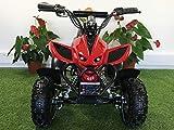Quad puissant électrique enfant rouge 36V - 800 W 35 Km/h 3 vitesses tout terrain