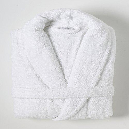 Linens Limited - Albornoz - 100% algodón Egipcio - Blanco, Grande
