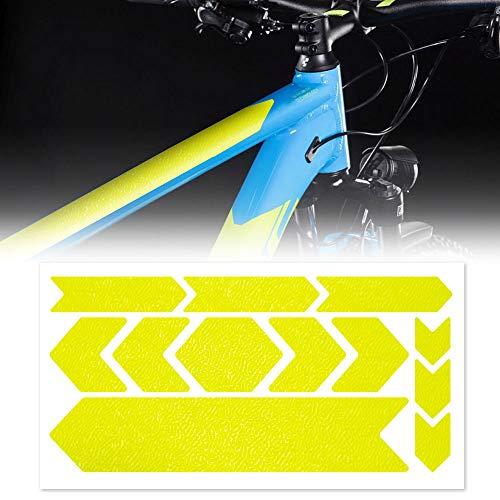 Adesivo Protezione Telaio Bicicletta MTB Rhino, 35 x 17.5 cm, Giallo Fluo