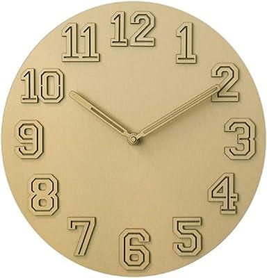 Gquan Art Wall Clock Mute Non-tick Wall Clock for Living Room (Color :