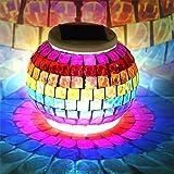 Solar Powered Colour Changing Solar Night Lights,<span class='highlight'><span class='highlight'>Mosaic</span></span> Glass Ball <span class='highlight'>Garden</span> Lights,Waterproof Windproof Solar <span class='highlight'>Table</span> Lights Lamp for Indoor or Outdoor <span class='highlight'>Garden</span> <span class='highlight'>Table</span> Patio Decorations (Style 3)