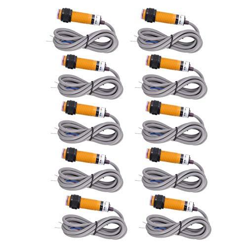 5 pares de sensor de interruptor fotoeléctrico de haz pasante JYIO 6-36VDC 300mA PNP interruptor de proximidad fotoeléctrico normalmente abierto