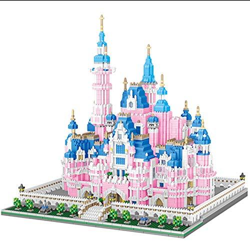 Disney Rosa Castle Building Backstein Pädagogische Bausteine Kinderspielzeug Geburtstagsgeschenk Jungen und Mädchen (6718 stücke)