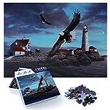 Puzzle Adultos 1000 Piezas, Redondo Puzzle Rompecabezas, Puzzle Creativo, Apto para Niños Mayores de 14 Años (Águila)