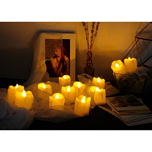 Candle Choice Flameless Candles Flickering Led Votive Candles Battery Operated, 12 Pack (Melted/Dripping)