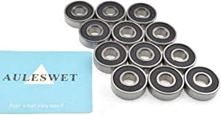 AULESWET 608 Bearings Smooth Long Spinning Time Seals on Both Sides Solid Long Lasting for Skateboard Scooters Wheels Fidget Spinners 3D Printer Projects for MPCNC Bandsaw Guide Wheels