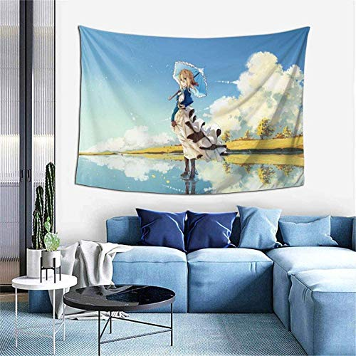 Violet Evergarden Tapestry Wall Hanging Decoration for Apartment Home Art Wall Tapestrys for Home Decorative Bedroom Art Tapestries
