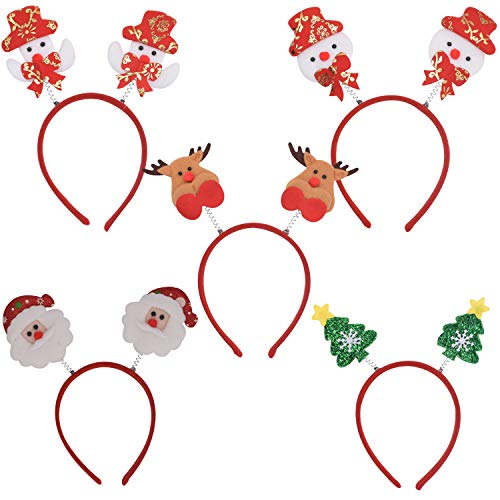 BESTZY 12PCS Diademas Navidad Accesorio deCabello y Cabeza con Diseños Navideños