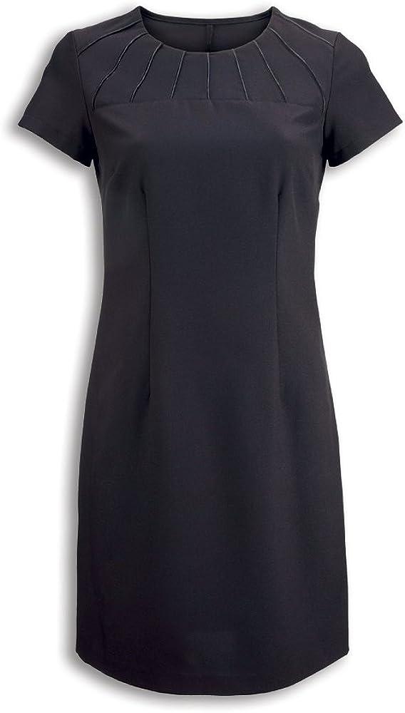 Alexandra Workwear Womens Satin Trim Beauty Dress